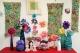 Christmas textile art floral display