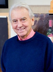 Photo of Bill Caldwell, artist and Peninsula Arts tutor