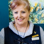 Photo of JulieGoldspink, artist and Peninsula Arts tutor