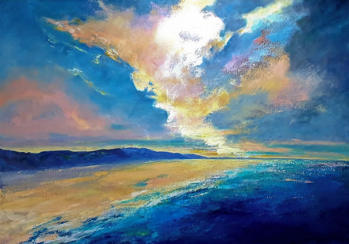 'Dawns Palette', seascape painting by Catherine Hamilton