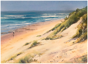 seascape with sand dunes