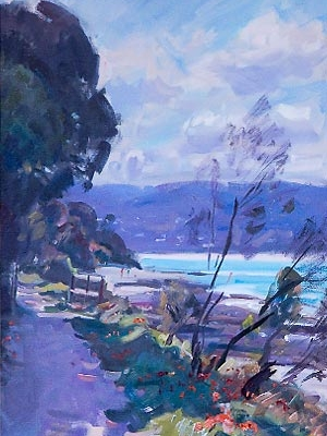 Peter Smales landscape in oils